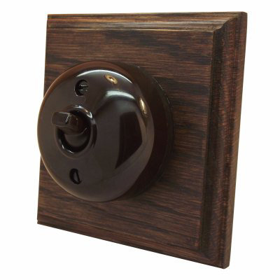 Vintage (Bakelite) Dome  Dome | Antique Mahogany   Sockets & Switches