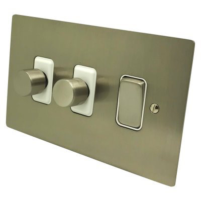 Satin Nickel Dimmer And Light Switch
