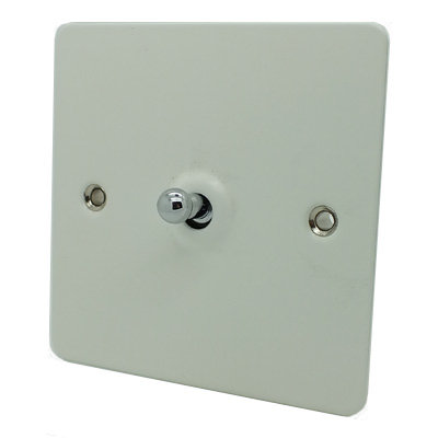 Flat Matt White Flat Matt Intermediate Toggle Switch