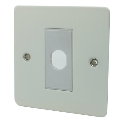 Flat Matt White Flat Matt Flex Outlet Plate