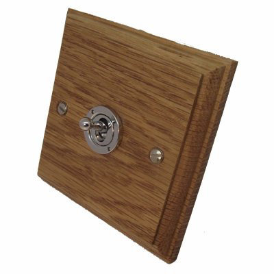 Jacobean Light Oak | Polished Stainless   Sockets & Switches