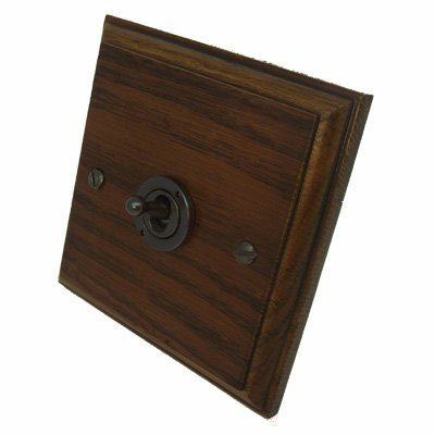 Jacobean Medium Oak | Bronze Antique   Sockets & Switches