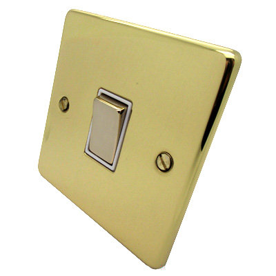 Low Profile Rounded  Polished Brass
