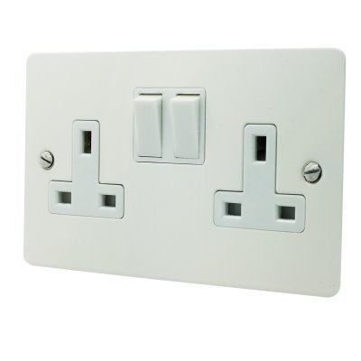 Flat Matt  White   Sockets & Switches