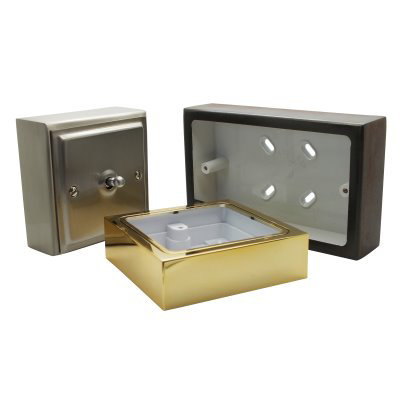 Metal Clad Silk Bronze Sockets & Switches Surface Mount Boxes (Wall Boxes)