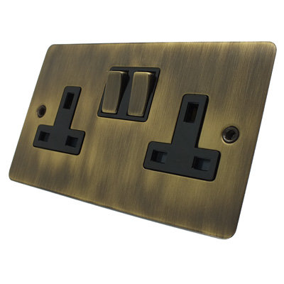 Square  Antique Brass   Sockets & Switches