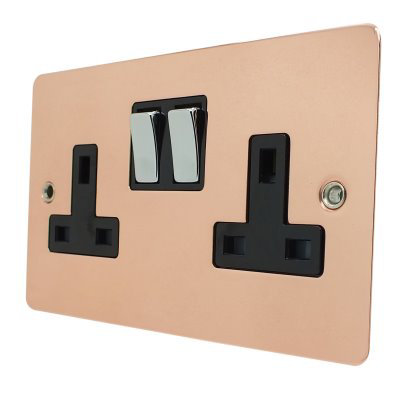 Square  Polished Copper with Chrome Rockers