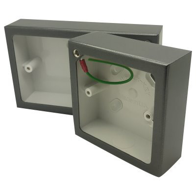Steel Grey Sockets & Switches Surface Mount Boxes (Wall Boxes)