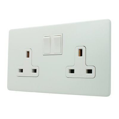 Textured (Screwless)  White   Sockets & Switches