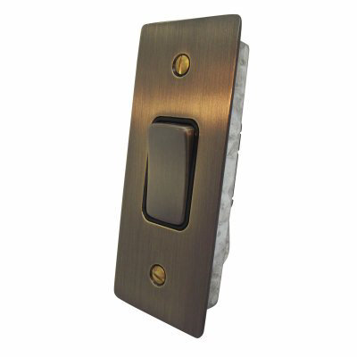 Ultra Square Antique Brass Ultra Square Architrave Switches