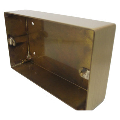 Double Solid Metal Surface Mount Wall Box