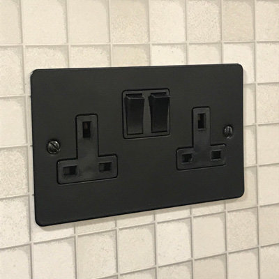 Flat Matt  Black   Sockets & Switches