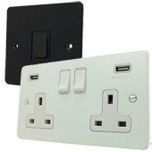 Black and White Sockets and Switches