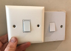 Large size sockets and switches