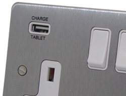 USB charging ports on 13 Amp socket